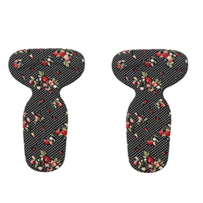 silicone gel insoles for shoes pads foot care high heel protector cushion shoe insoles inserts (Pattern black) 2 pcs foot care insoles invisible cushion silicone gel heel liner shoe pads heel pad foot massage womens orthopedic shoes z03101