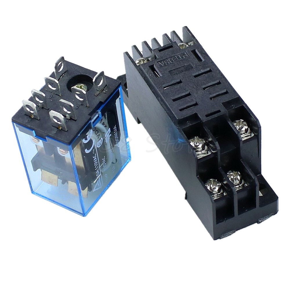 10Pcs Relay LY2NJ 24V DC Small relay 10A 8PIN Coil DPDT HH62P