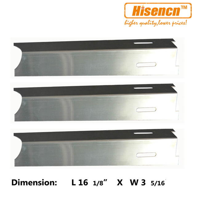 Hisencn 92411 3pcs/pk Gas Grill Heat Plate Stainless Steel Heat Shield Replacement For BBQ  sc 1 st  AliExpress.com & Hisencn 92411 3pcs/pk Gas Grill Heat Plate Stainless Steel Heat ...