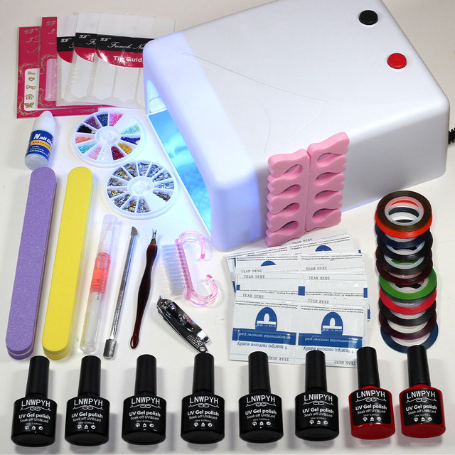 Aliexpress.com : Buy New Manicure Set Gel Nail Lamp Nail Art Kits ...