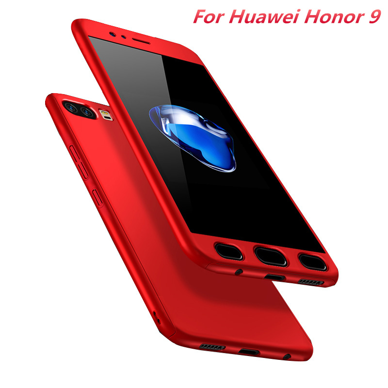 Coque For Huawei Honor 9 Case 5.15 Luxury 360 Degree Full Body Protection Case With Tempered Glass for Huawei Honor9 Phone Case