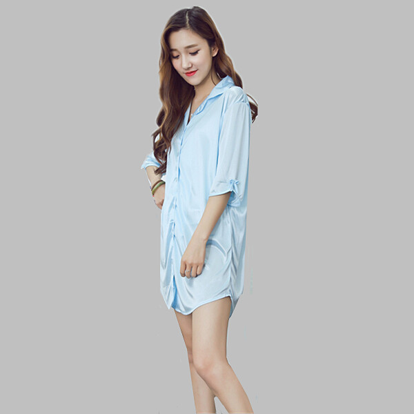 New 2016 Fashion Women font b Nightgowns b font Plus Size Casual Sleepwear Ladies Night Dress
