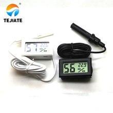 Белый/черный Мини Цифровой термометр гигрометр датчик температуры и влажности Измеритель тепловой тестер детектор 1,5 м