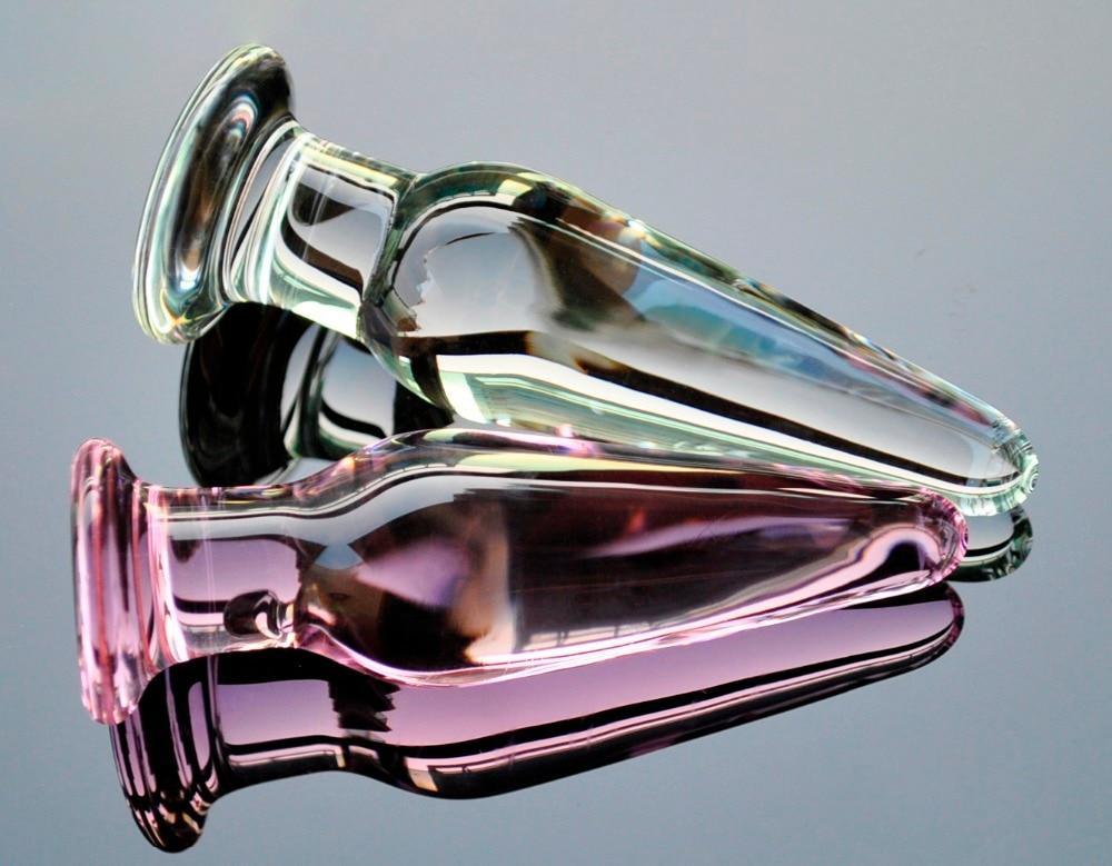 30Mm Crystal Anal Dildo Pyrex Glass Bead Butt Plug Fake Male Penis Dick Female -1281