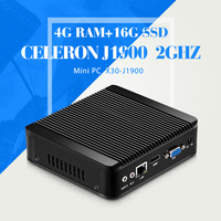 Mini Computer Celeron J1800 8G RAM 320G HDD Fanless Computer 4 USB 2 0 1 USB