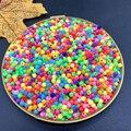 Разноцветные акриловые Круглые бусины для браслетов и ожерелий, 1000/500 шт./партия, 3/4 мм, аксессуары для ювелирных изделий, # ZV11