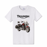 Fashion GREAT BRITAIN TRIUMPH MOTORCYCLE 3d T Shirt Men Easydiag Speed Triple Male T Shirt Indian