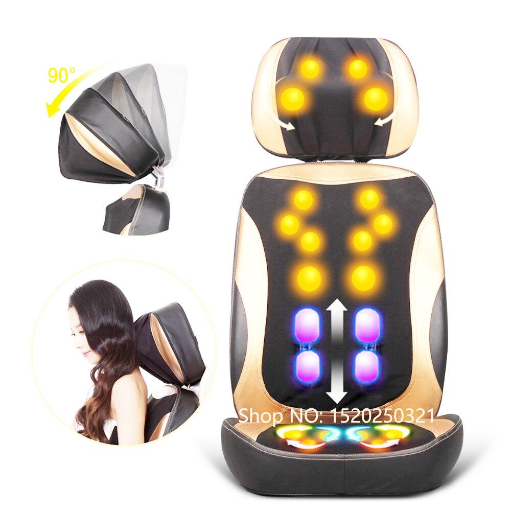 Électrique massage du dos vibrateur pas cher corps épaule Chauffage GUA SHA massage chaise canapé machine masage du Cou coussin chaise