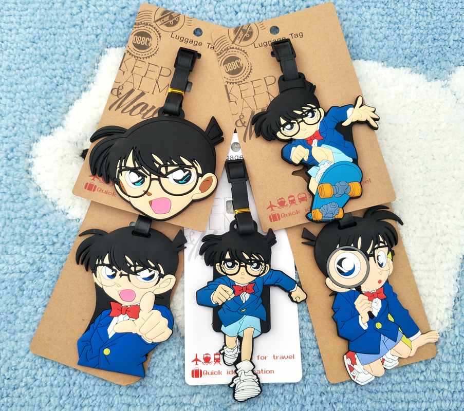 IVYYE Detective Conan Q Anime Travel Accessories Luggage Tag Suitcase ID Address Portable Tags Holder Baggage Labels New