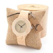 BOBO PÁJARO Retro Para Mujer Relojes de Oro con Vetas De la Madera De Madera de Cuero Curtido Vegetal Simplement Diseño Señoras Reloj de Pulsera