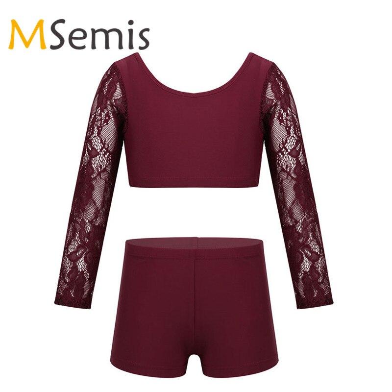 MSemis Kids Girls High Waist Dance Sports Gymnastics Shorts Yoga Workout Bottoms Skirt//Dress Under Panty