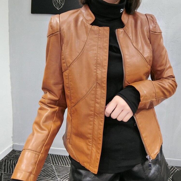Haus & Garten Liefern Mode Lässig Faux Leder Jacke Frauen Kurze Zipper Biker Frauen Mäntel Taschen Herbst Winter Pu Jacke