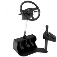 New computer Racing game steering wheel dual USB car driving simulator school car driving test driving school training mach