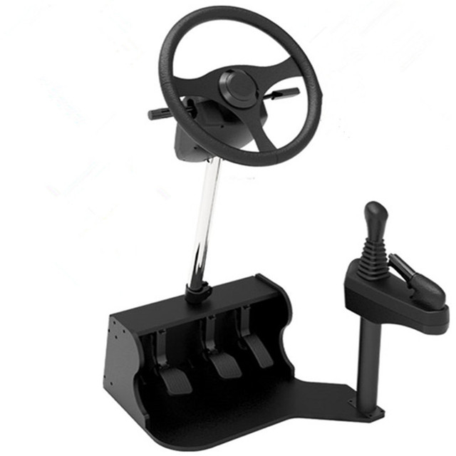 2016 new computer Racing game steering wheel dual USB car driving simulator school car driving test driving school training mach