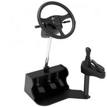 2016 new computer Racing game steering wheel dual USB car driving simulator school test training mach