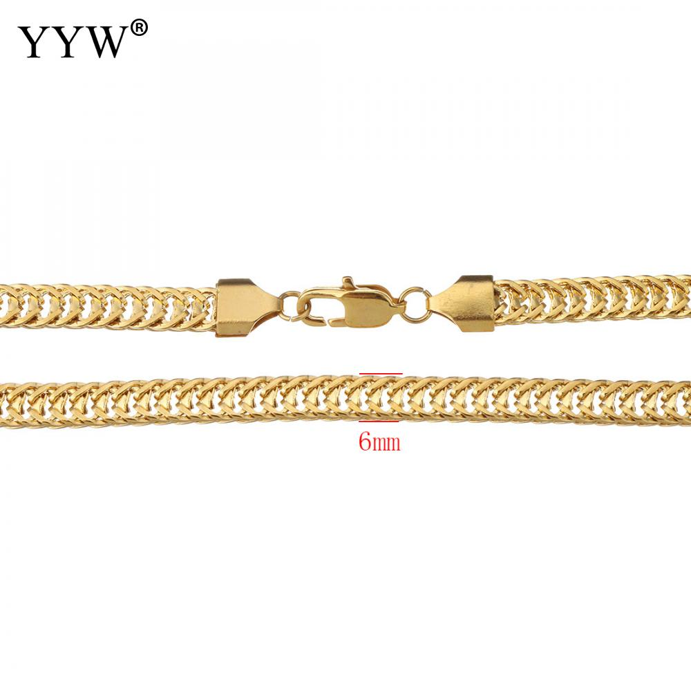 10sets/Lot Simple Jewelry Sets Women Man Fashion Stainless Steel Jewelry Set Bracelet Necklace Gold Color Unisex Curb Chain emanco stainless steel jewelry femme rose gold color link chain necklace with cute pendants simple brand design fashion jewelry