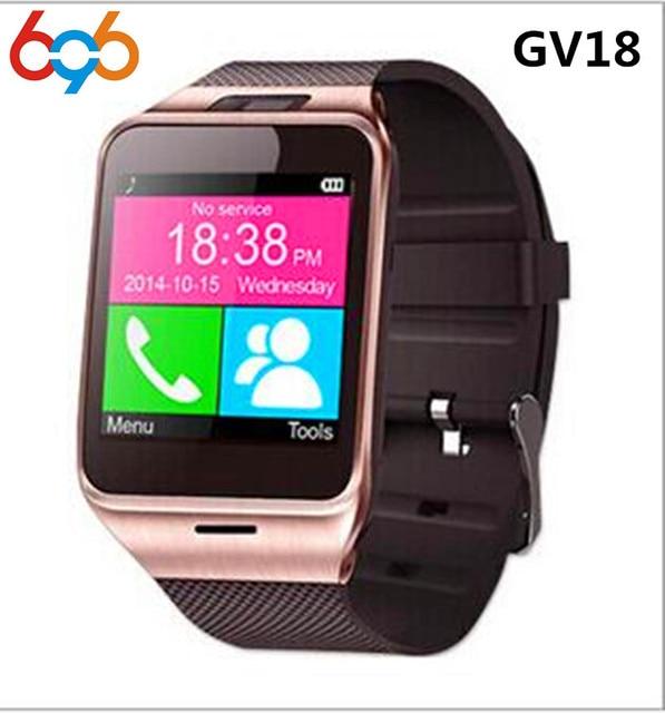 1fe15fadfe09 696 reloj inteligente Gv18 Aplus con cámara ranura para tarjeta SIM TF  Bluetooth impermeable Smartwatch Android y IOS teléfono PK Dz09