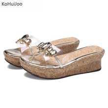KoHuiJoo Outdoor Summer Women Slippers Outside Ladies for Girls 2019 Fashion Metal Bordered Flip Flops