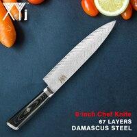 XYj High Hardness Japanese 67 Layers VG10 Damascus Steel Kitchen Knife Professionl Chef Kitchen Knife Ultra Sharp G10 Handle