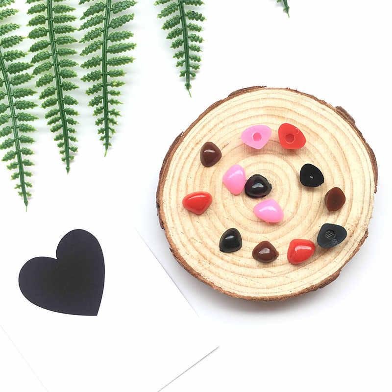 200 шт плоский черный Треугольники нос Пластик для вязания крючком куклы делать игрушки для плюшевый медведь, куклы Amigurumi решений аксессуары
