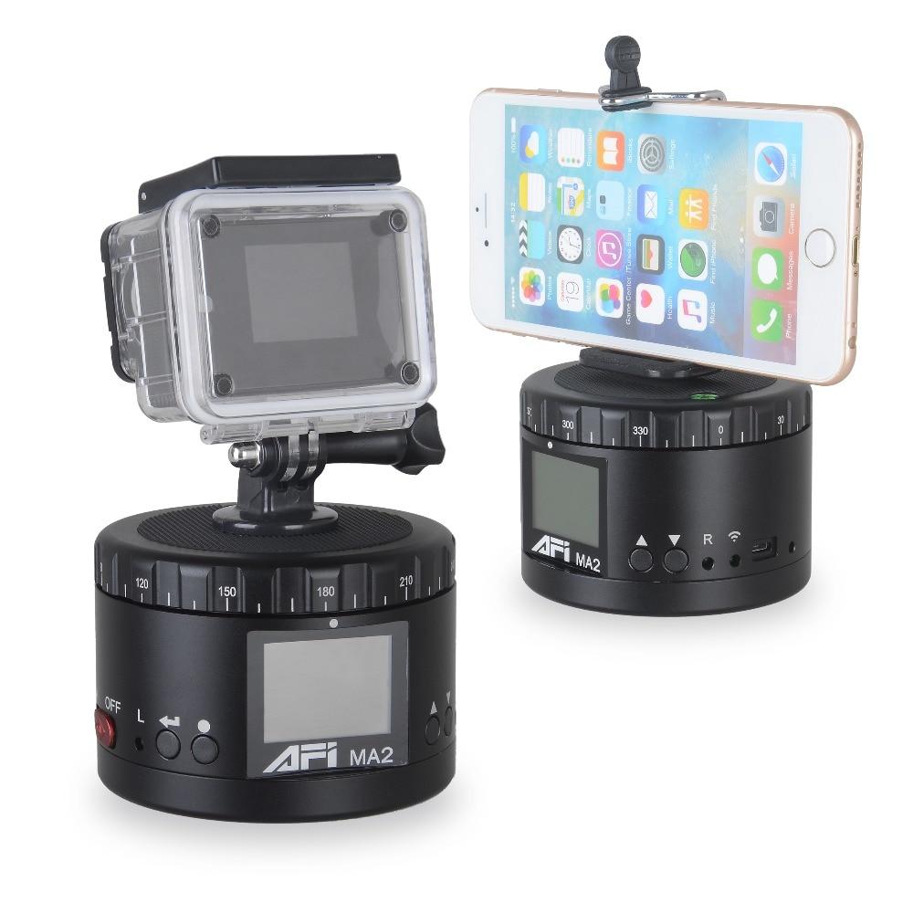 AFI MA2 Métal Électrique Tête Panoramique Cardan Caméra Stabilisateur 360 Degrés Time Lapse Tir Durable Vie HD D'affichage Pour Canon