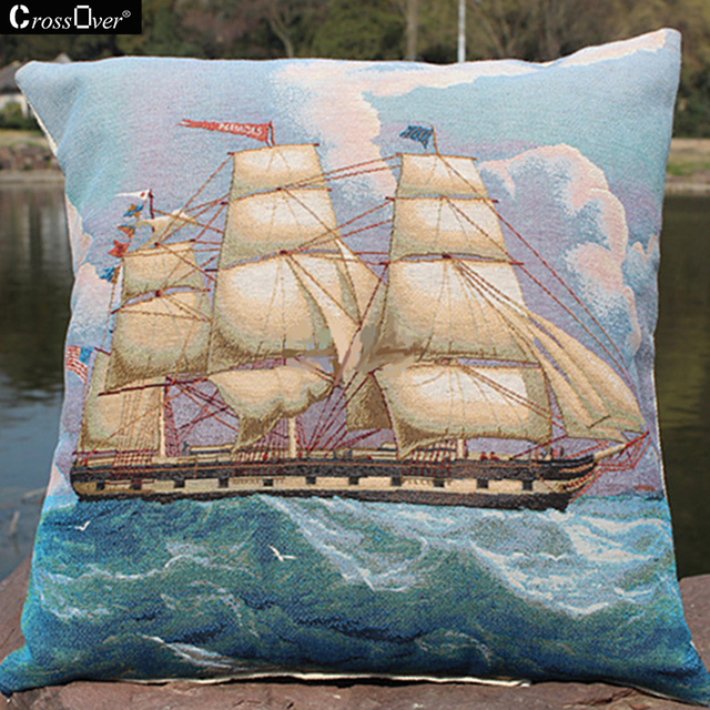 Free Shipping Knitted Cotton Linen Cushion Cover Cartoon Animals
