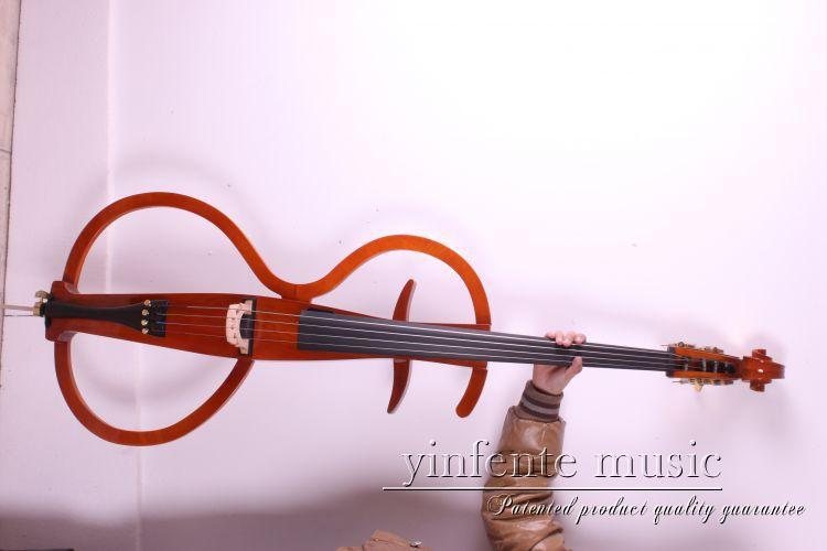 orange  Electric Cello 4/4 hand carved good ebony agleam Silent Cello Solid bosch twk 7604