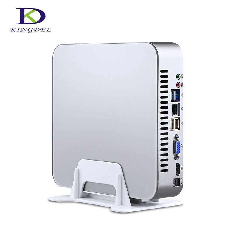 Mute Fan Mini PC Intel Quad-Core I7 4700HQ Dual Core I7 6500U I5 6200U Desktop Mini Computer Windows 10 Nettop Pocket HTPC
