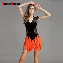 2017 New Dance Latin Dresses Wave Tassel Costume Dance Latine For Women Enfeites Para Quarto Cha Cha/Tango/Rumba/Samba Dress