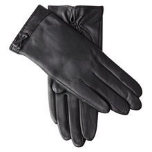 Genuine Leather Gloves Female Winter Plus Velvet Thicken Driving Sheepskin Butterfly Knot Touchscreen L18010NC