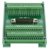 1 PC Terminal Blocks Module Terminal Module SCSI68 68 pin DB Type Female Connector Breakout Board Terminal Module
