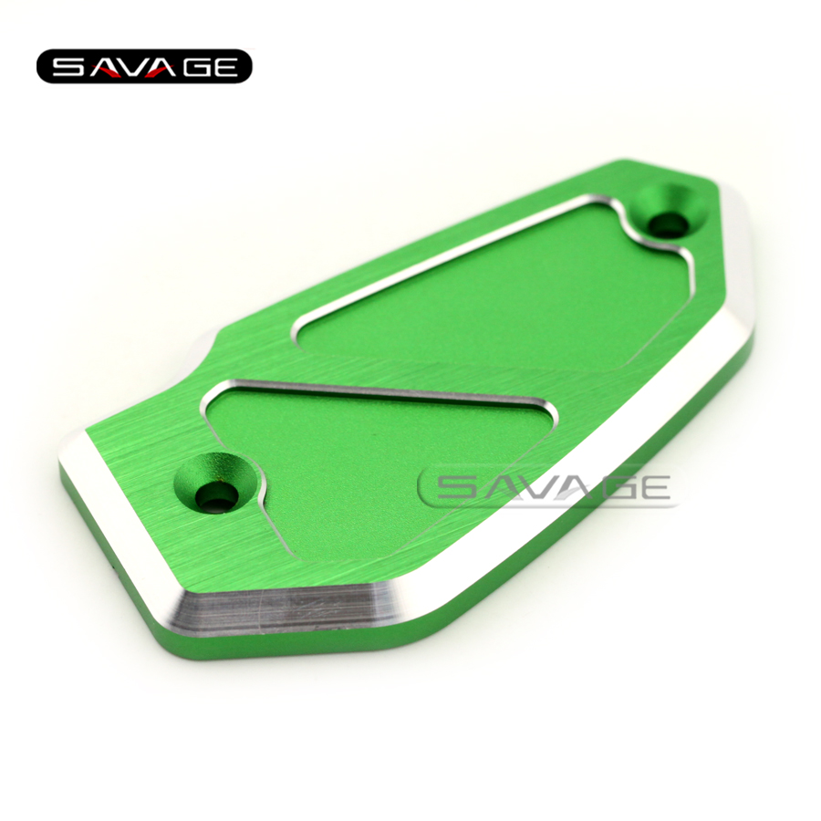 For KAWASAKI Z800 2013 2014 2015 2016 Motorcycle Accessories CNC Aluminum Front Brake Fluid Reservoir Cover Cap Green oasis bse bsa gmb vgb 500 80 8 секций