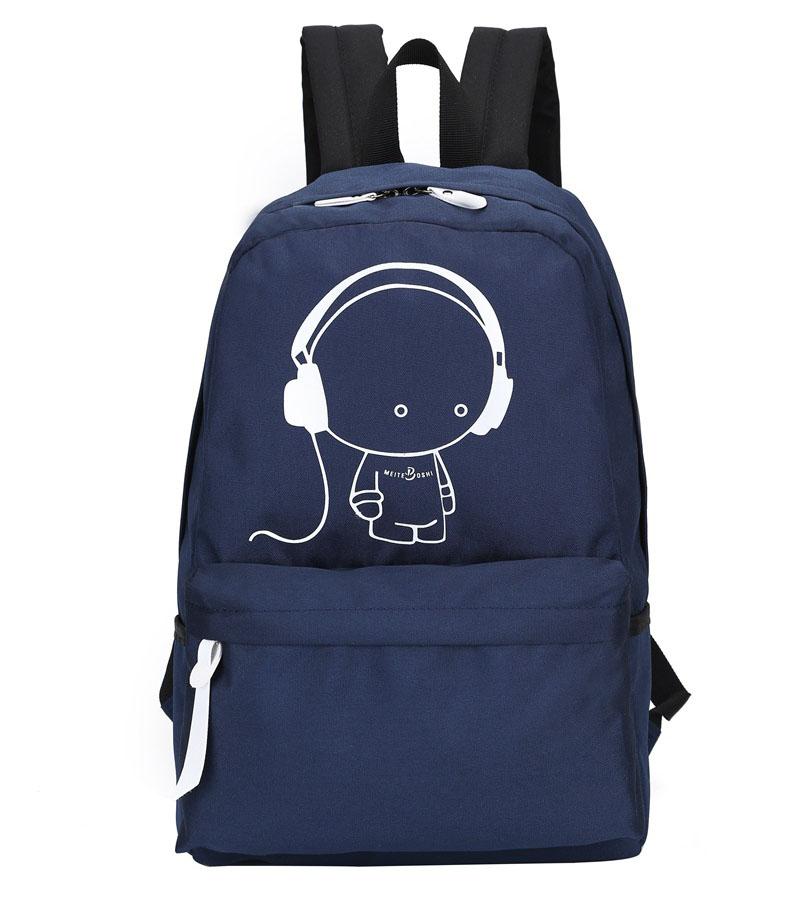 cb49d1b9fa96 2017 New Arrival Oxford Music Boy Printing Backpack Shoulders Bag ...