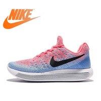 Оригинальный Официальный Nike LUNAREPIC низкая FLYKNIT для женщин дышащие кроссовки спортивные прогулочные брендовая Дизайнерская обувь
