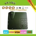 H80 Home Cinema Theater HD Multimedia Mini LED Proyector 640*480 resolución SD AV VGA PC USB HDMI Projektor Projetor proyector