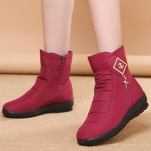 2018 new keep warm plush women winter boots convenient side zipper women snow boots fashion metal decoration ankle boots female