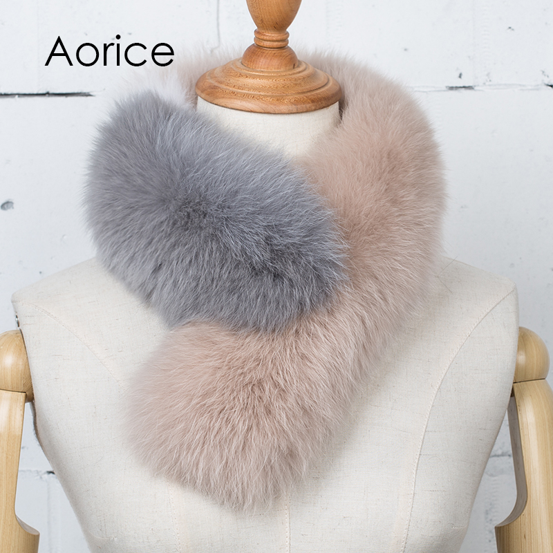Pudi SF732 Ms new winter three color Mosaic scarf fashion fox fur scarf more comfortable warm color is optional