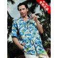 Casuais camisa de manga curta roupas plus size solto pérola flor imprimir camisa dos homens camisas havaí roupa 2XL 3XL