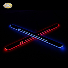 цена на SNCN LED door sill for Volkswagen Vw polo sedan 2013-2015 Led moving lights door scuff plate welcome pedal
