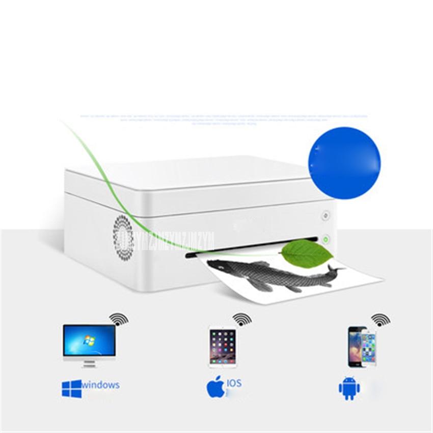 Черно белый лазерный принтер, одна машина, копировальная, беспроводная, Wi Fi, для дома, маленького офиса, скорость печати 22 страницы/минуты, 220 В, M7208W - 2