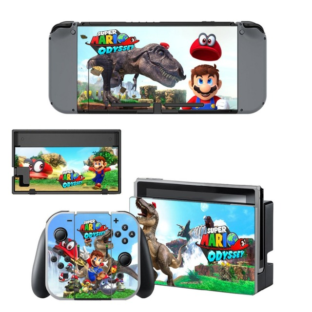 Gift Popular Game Super Mari o Skin Sticker For Nintend Switch Console Controller Vinyl Skin Cover Accessories NS 2