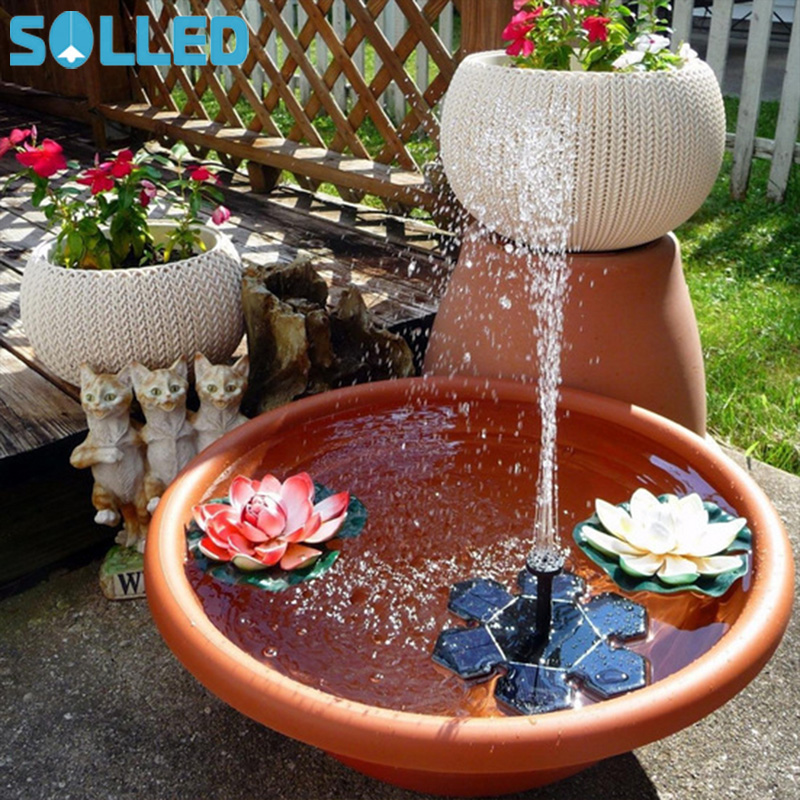 SOLLED Mini Solar Powered Fountain Pump Water Floating Solar Water Pumps For Garden Pool Outdoor Decoration