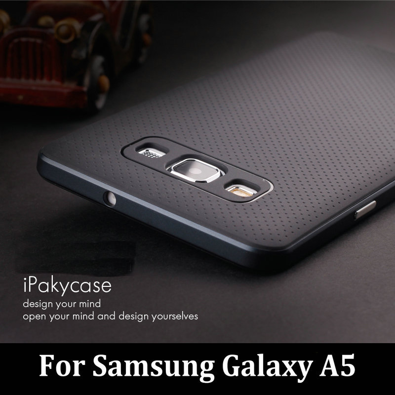 Original iPaky Brand For Samsung Galaxy A5 2017 A5000 Case Luxury Fashion Armor Silicone Back Cover with Frame