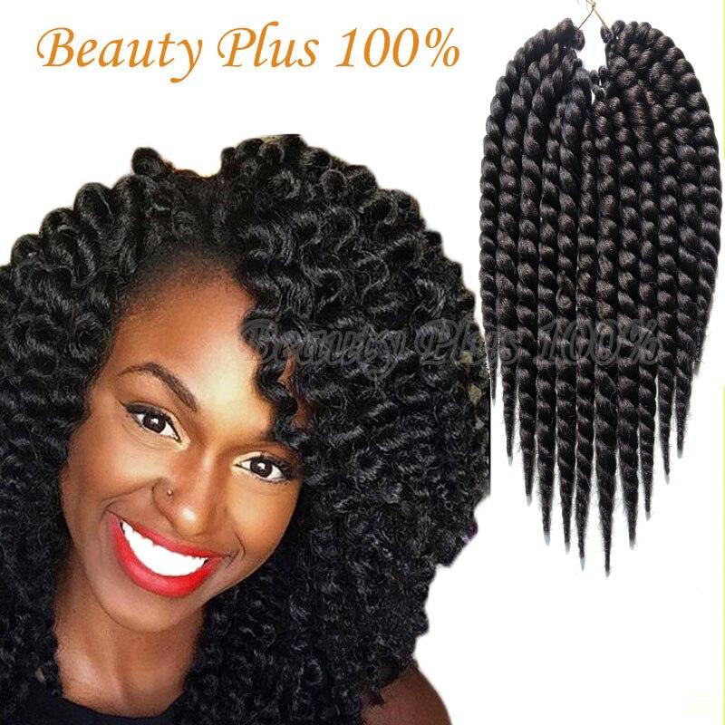 La havane Mambo Twist Crochet Tresse de Cheveux 12 75 g/pack Synthétique