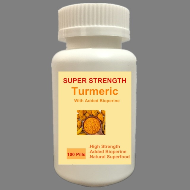 500MG 100 CAPSULES Organic Turmeric (Curcumin) With Bioperine (For Better  Absorption)-in Body Glitter from Beauty & Health on Aliexpress com |  Alibaba
