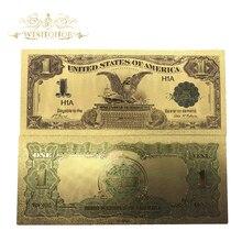 10 шт./лот, цветные, американские, позолоченные банкноты, 1899 USD 1 доллар, Банкнота, поддельные копии, бумажные деньги для украшения дома