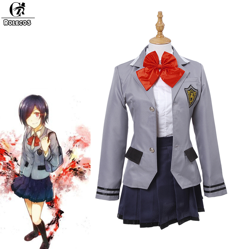 ROLECOS Brand Japanese Anime Tokyo Ghoul Cosplay Costumes Japanese School Uniform Touka Kirishima Cosplay Costumes lady bug dolls