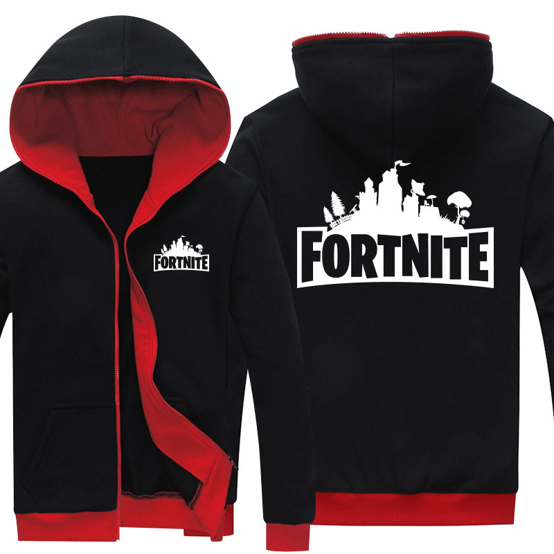 Drop Shipping Men's zipper hoodies Game Fortnite Printed mens jackets Fleece Hoody Sweatshirts Brand-Clothing Casual Clothings