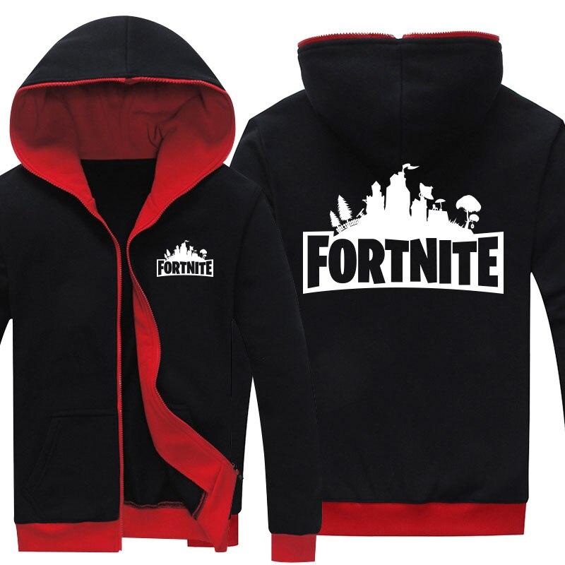 Drop Shipping Men's zipper hoodies Game Fortnite Printed mens jackets Fleece Hoody Sweatshirts Brand-Clothing Casual Clothings