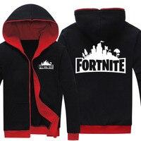 Drop Shipping Men S Zipper Hoodies Game Fortnite Printed Mens Jackets Fleece Hoody Sweatshirts Brand Clothing